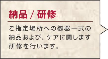 納品/研修